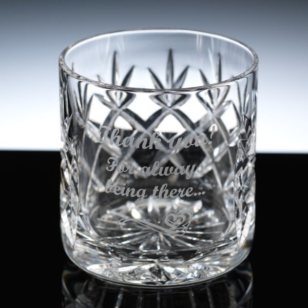 Image of 8oz Inverness Crystal Engraved Whiskey Glass