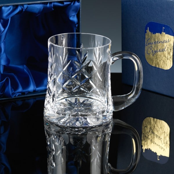 Image of 1/2 Pint Crystal Personalised Glass Tankard