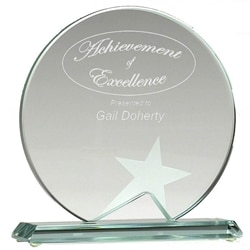 """6"""" Aspire Jade Glass Award 1 Locksmith in Stirling"""