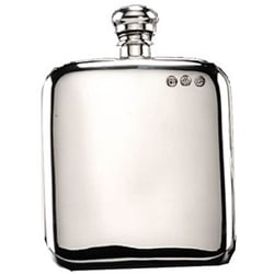 6oz Pewter Campbell Hip Flask 1 Locksmith in Stirling
