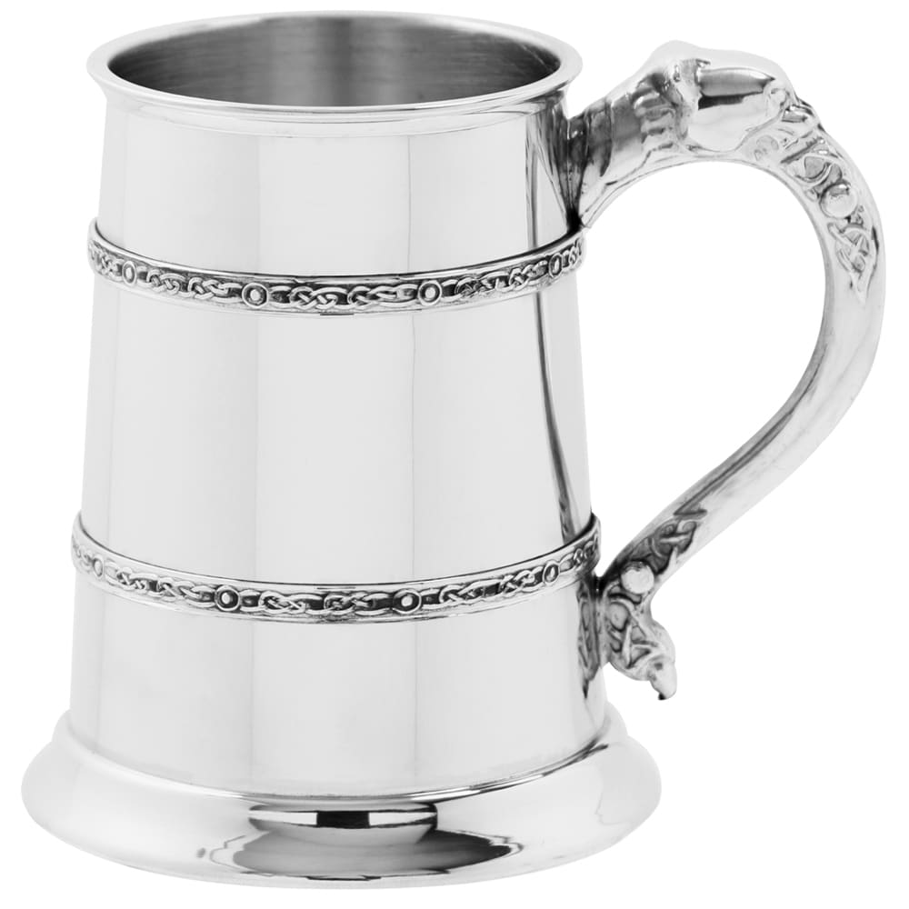 Club & Societies - 1 Pint Pewter Celtic Banded Engraved Tankard 2 Locksmith in Stirling