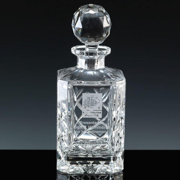 Image of Inverness Crystal Engraved Whiskey Decanter
