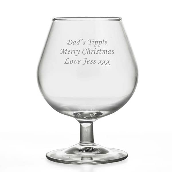 Image of personalised brandy glass 250ml