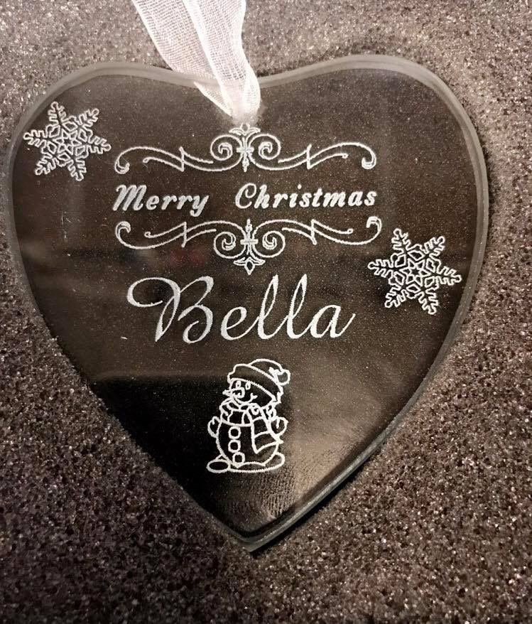 Glass Personalised Baby's First Christmas Decoration 2 Locksmith in Stirling