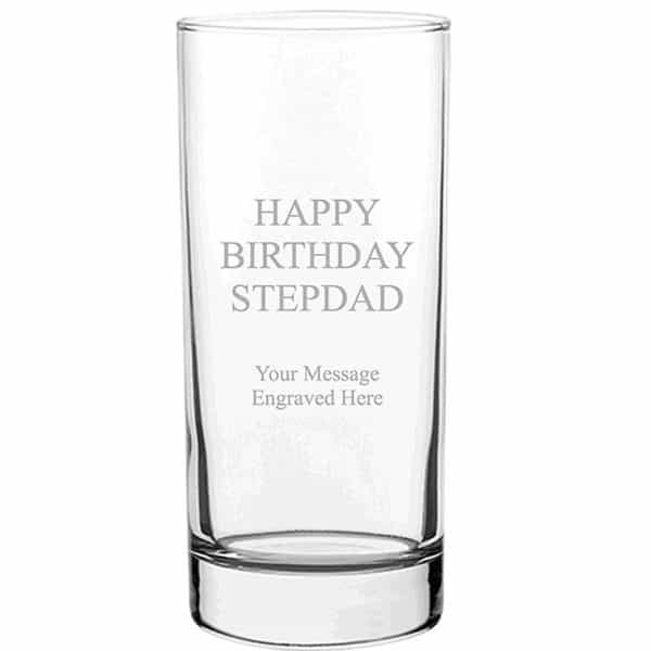 Image of Tall Personalised Glass Tumbler 370ml