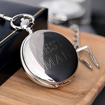 Personalised Engraved Pocket Watch - Stainless Sliver & Gold 1 Locksmith in Stirling