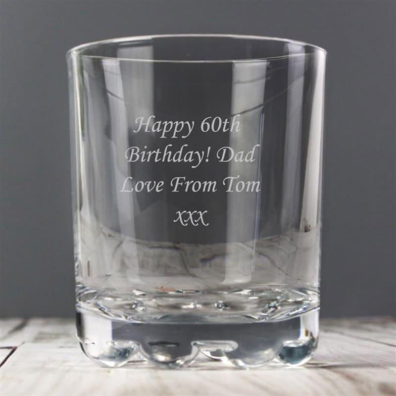 Image of 10oz Personalised Engraved Whiskey Glass