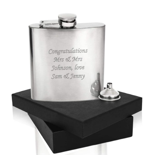 Image of 6oz Stainless Steel Personalised Hip Flask