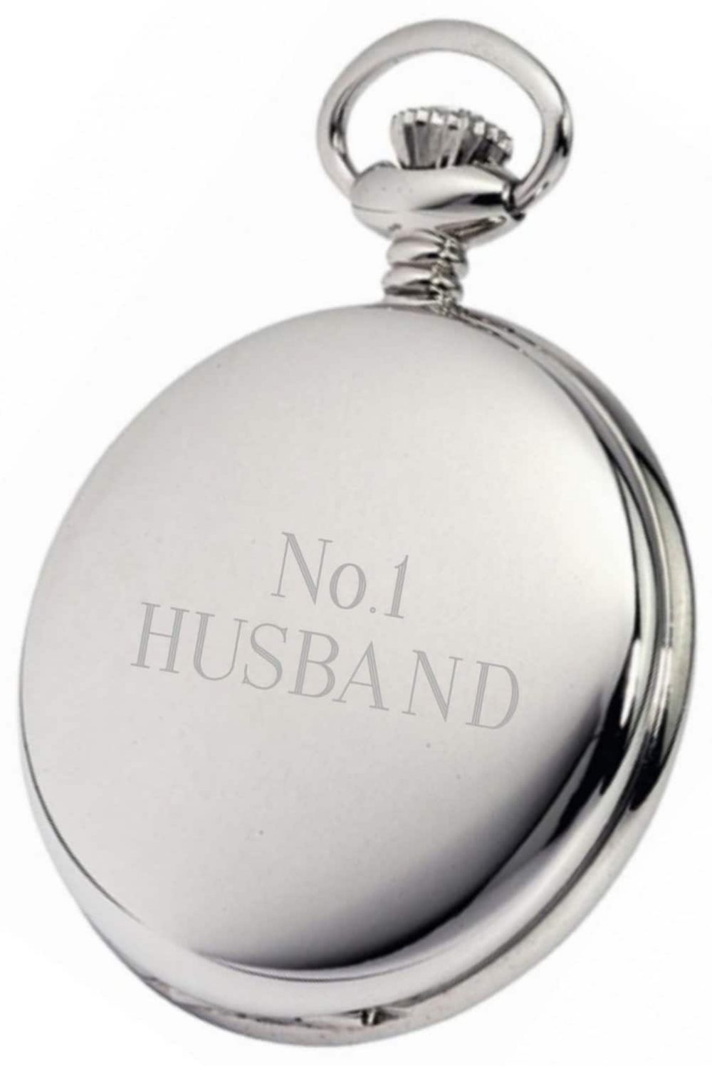 Stainless Silver Pocket Watches Engraved 1 Locksmith in Stirling