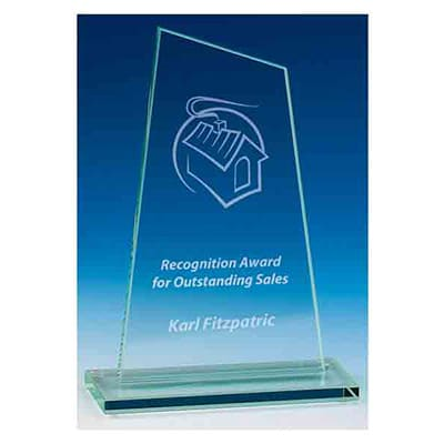 Image of Peak Jade Personalised Engraved Glass Award