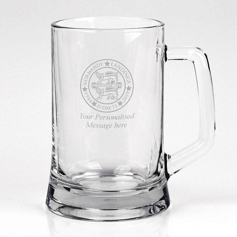Image of Engraved Personalised Pint Glass Tankard - 1 Pint