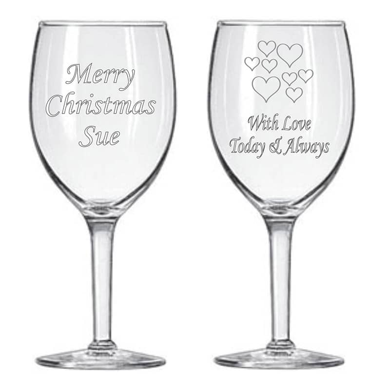 Image of Personalised Engraved Wine Glasses