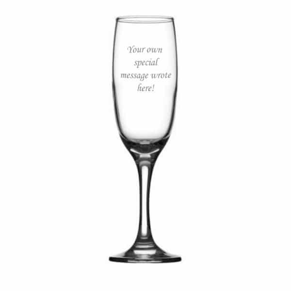 Image of Elegant Personalised Champagne Flute