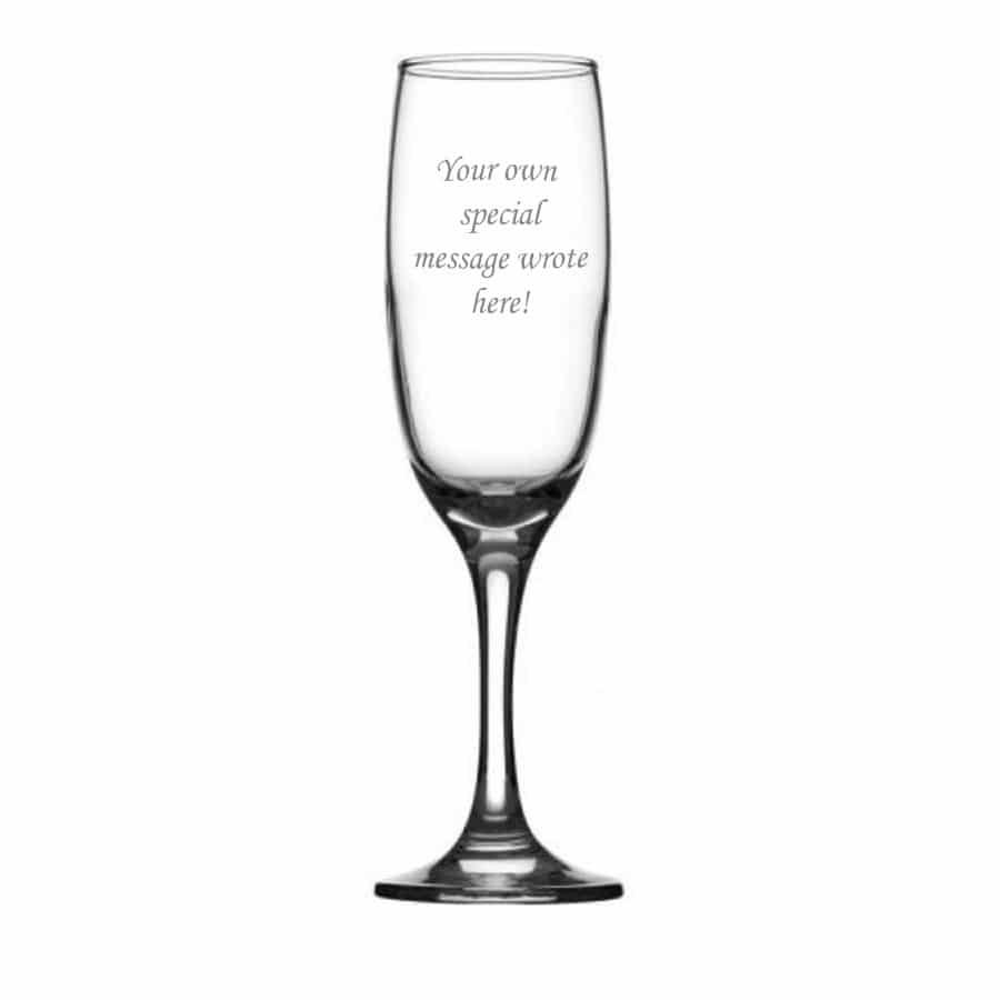 Image of Elegant Personalised Champagne Flute