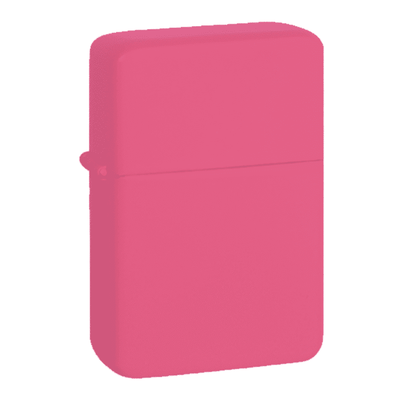 Image of Star Plain Satin Pink Personalised Engraved Lighter