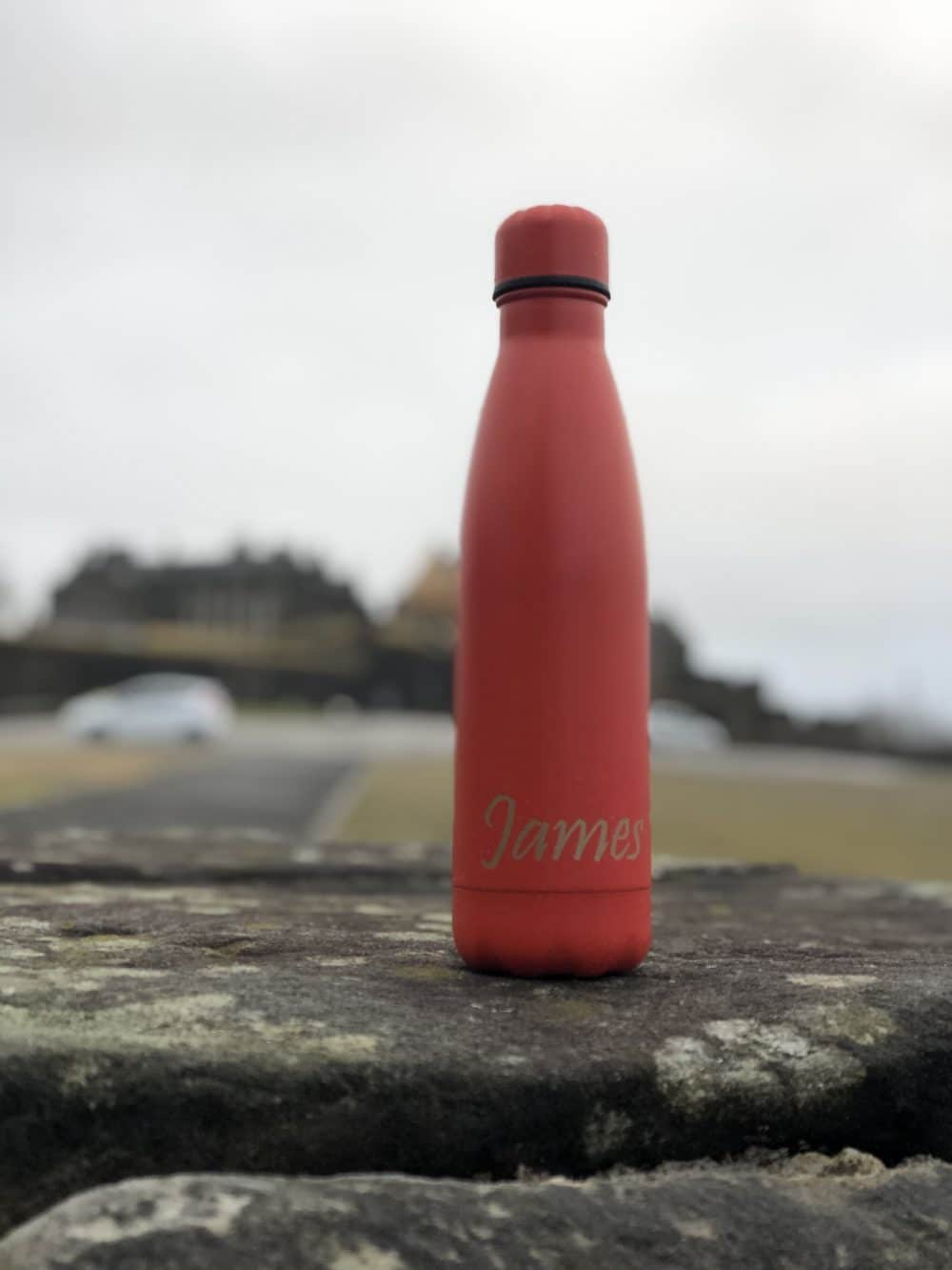 image of a red 500ml Thermal Personalised Water Bottle