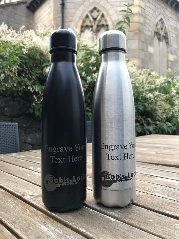 500ml Personalised Reusable Water Bottle Thermos - 4 Colours 1 Locksmith in Stirling