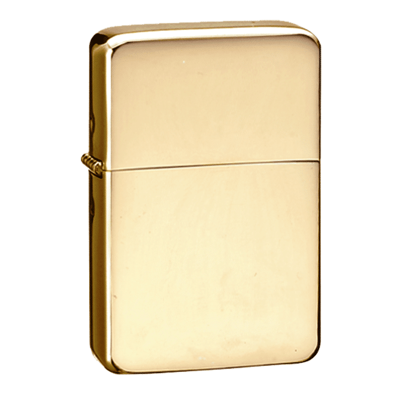 Image of Star Brass Gold Engraved Personalised Lighter