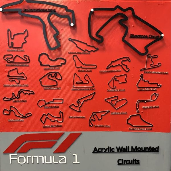 Image of Acrylic F1 Track collection
