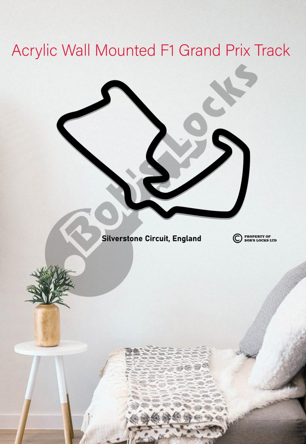 Image of Acrylic F1 Silverstone Circuit