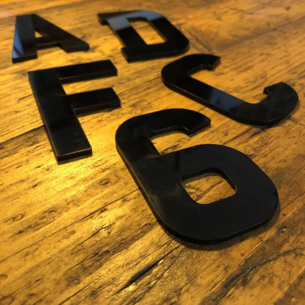 Image of 3mm Acrylic Numbers and Letters