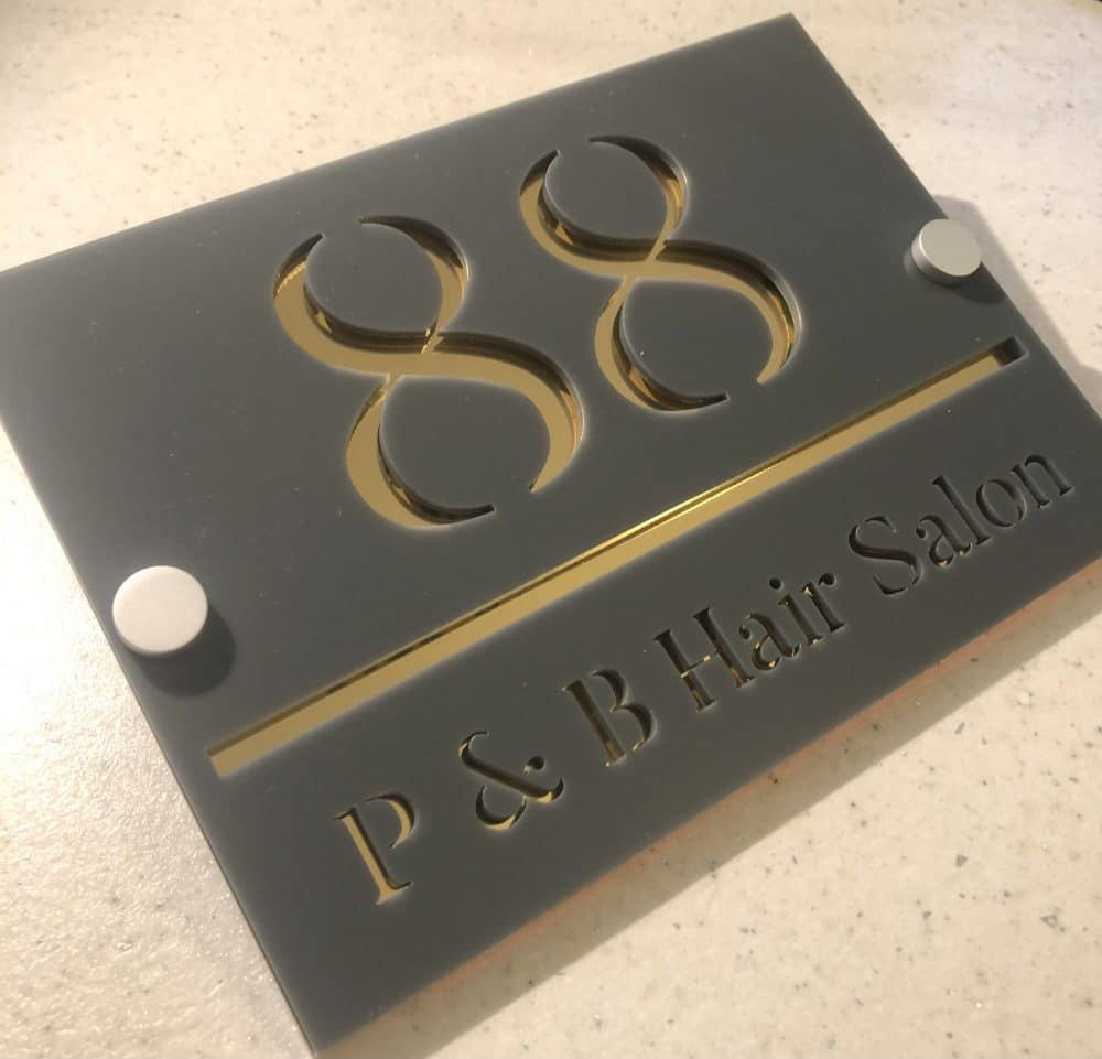 Image of a 200mm x 145mm premium acrylic house signs