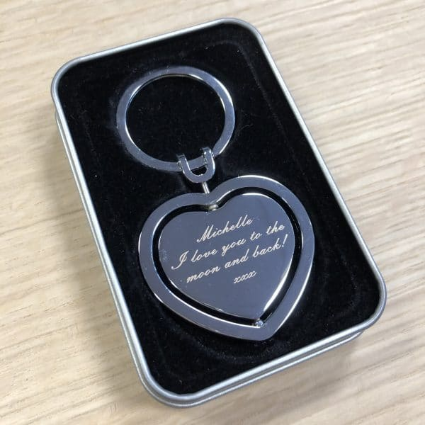 Image of Personalised Heart Key Ring