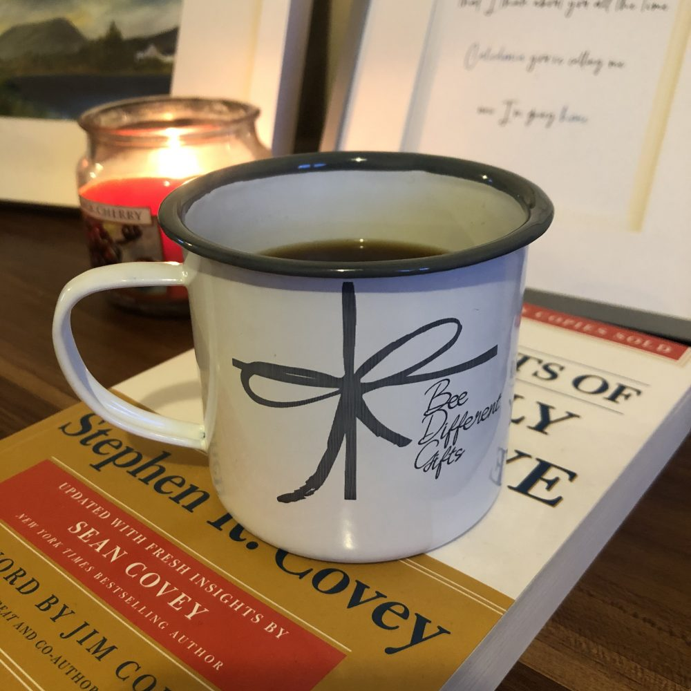 Image of Personalised Engraved Enamel Mug - Tin Cup with logo