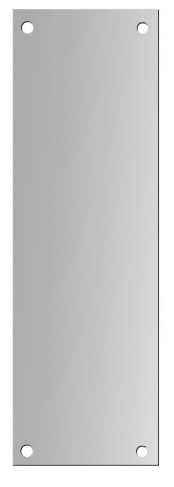 ASEC 100mm Wide Aluminium Finger Plate 1 Locksmith in Stirling