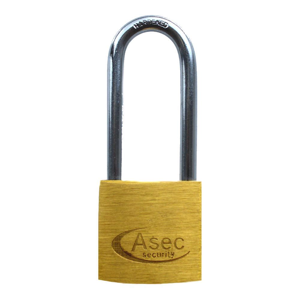 ASEC KA Long Shackle Brass Padlock 1 Locksmith in Stirling