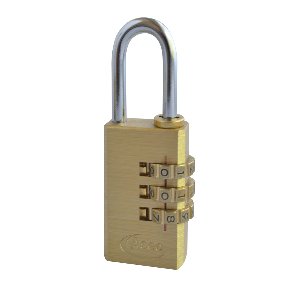 ASEC Brass Open Shackle Combination Padlock 1 Locksmith in Stirling