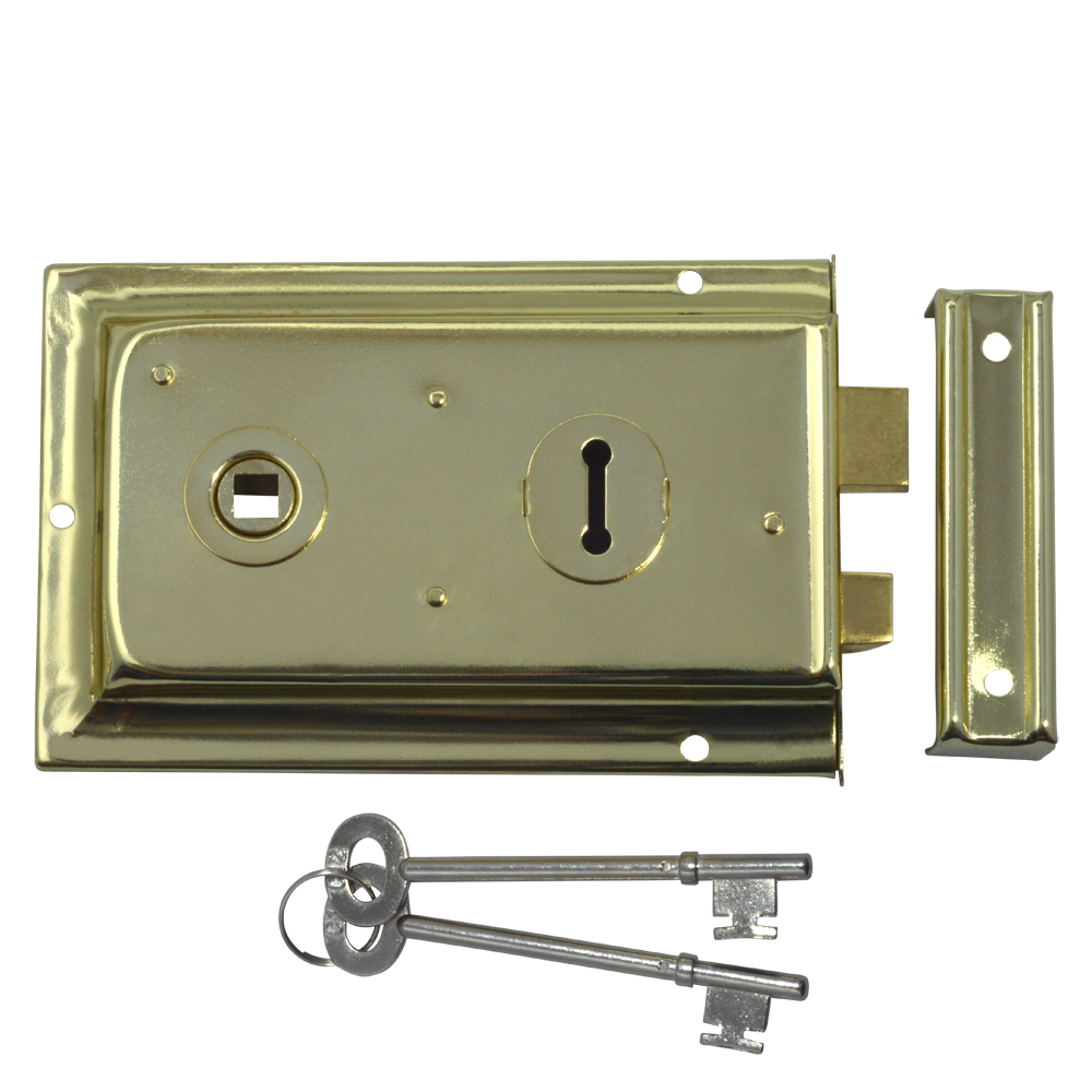 ASEC 1 Lever Double Handed Flanged Rimlock - 150mm 1 Locksmith in Stirling