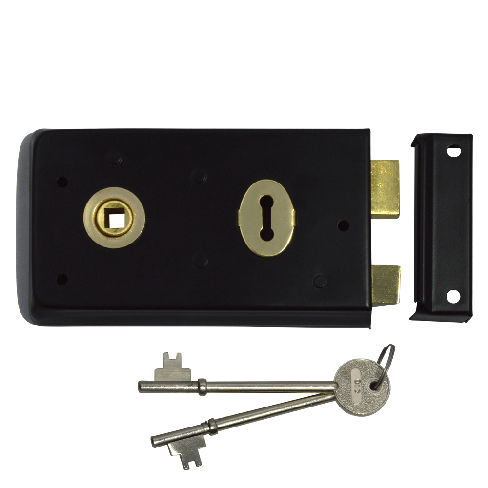 ASEC 1 Lever Double Handed Rimlock - 140mm 1 Locksmith in Stirling