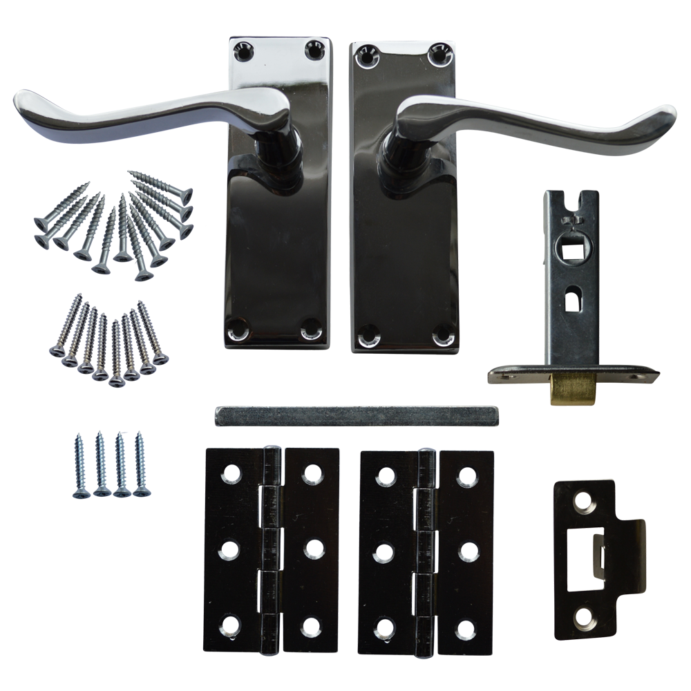 ASEC Scroll Mortice Latch Door Handle Pack with Butt Hinges 1 Locksmith in Stirling