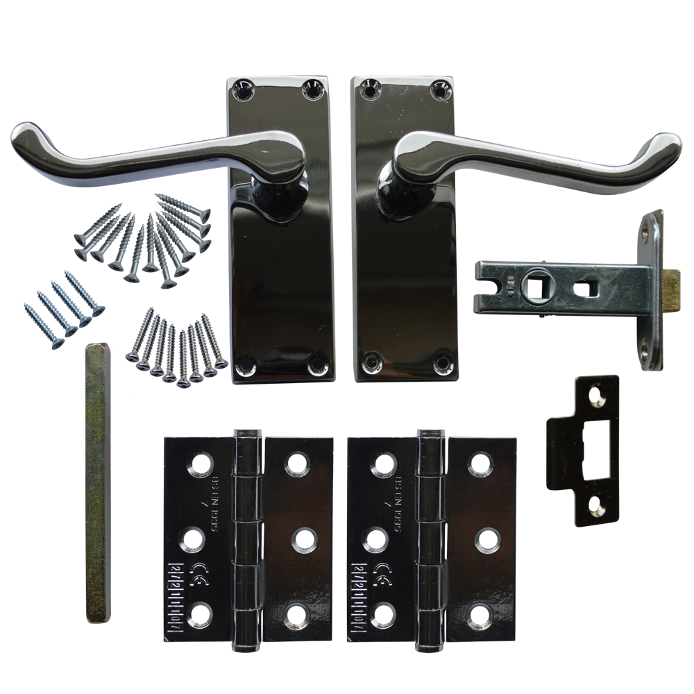 ASEC Scroll Mortice Latch Door Handle Pack Grade 7 Hinges 1 Locksmith in Stirling