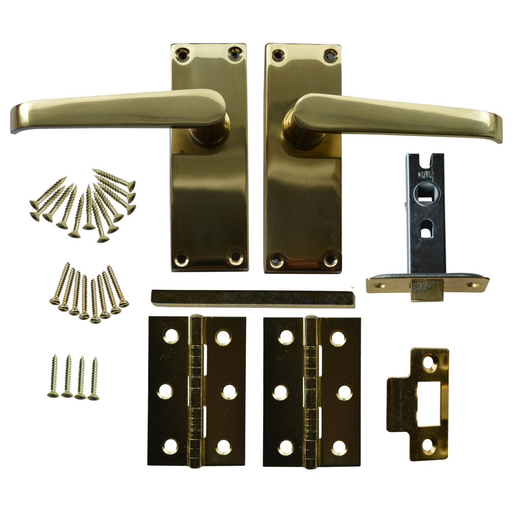 ASEC 63mm Victorian Flat Mortice Latch Door Handle Pack with Butt Hinges 1 Locksmith in Stirling