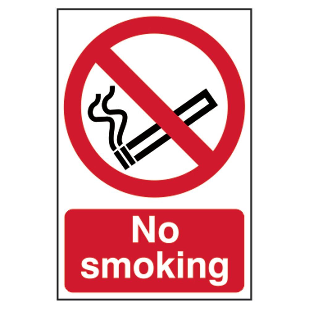 ASEC `No Smoking` Sign 200mm x 300mm 1 Locksmith in Stirling
