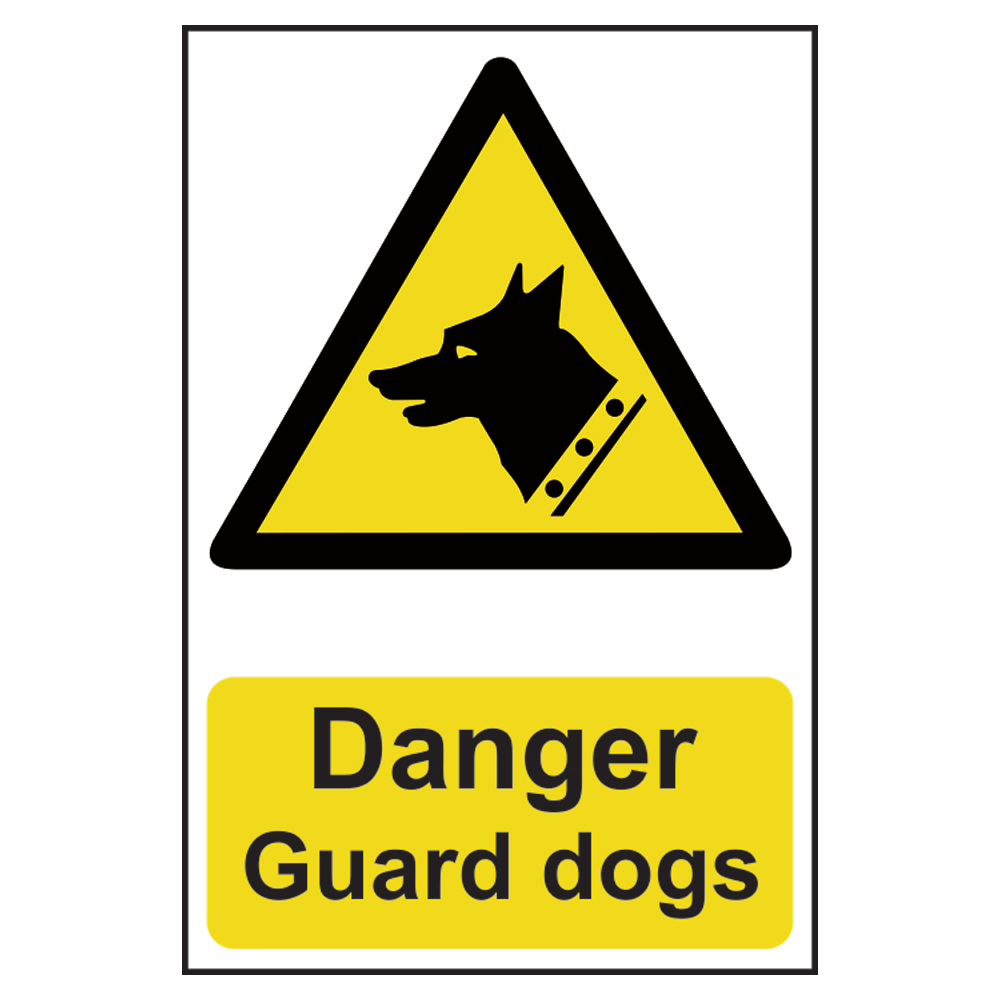 ASEC `Danger: Guard Dogs` Sign 200mm x 300mm 1 Locksmith in Stirling