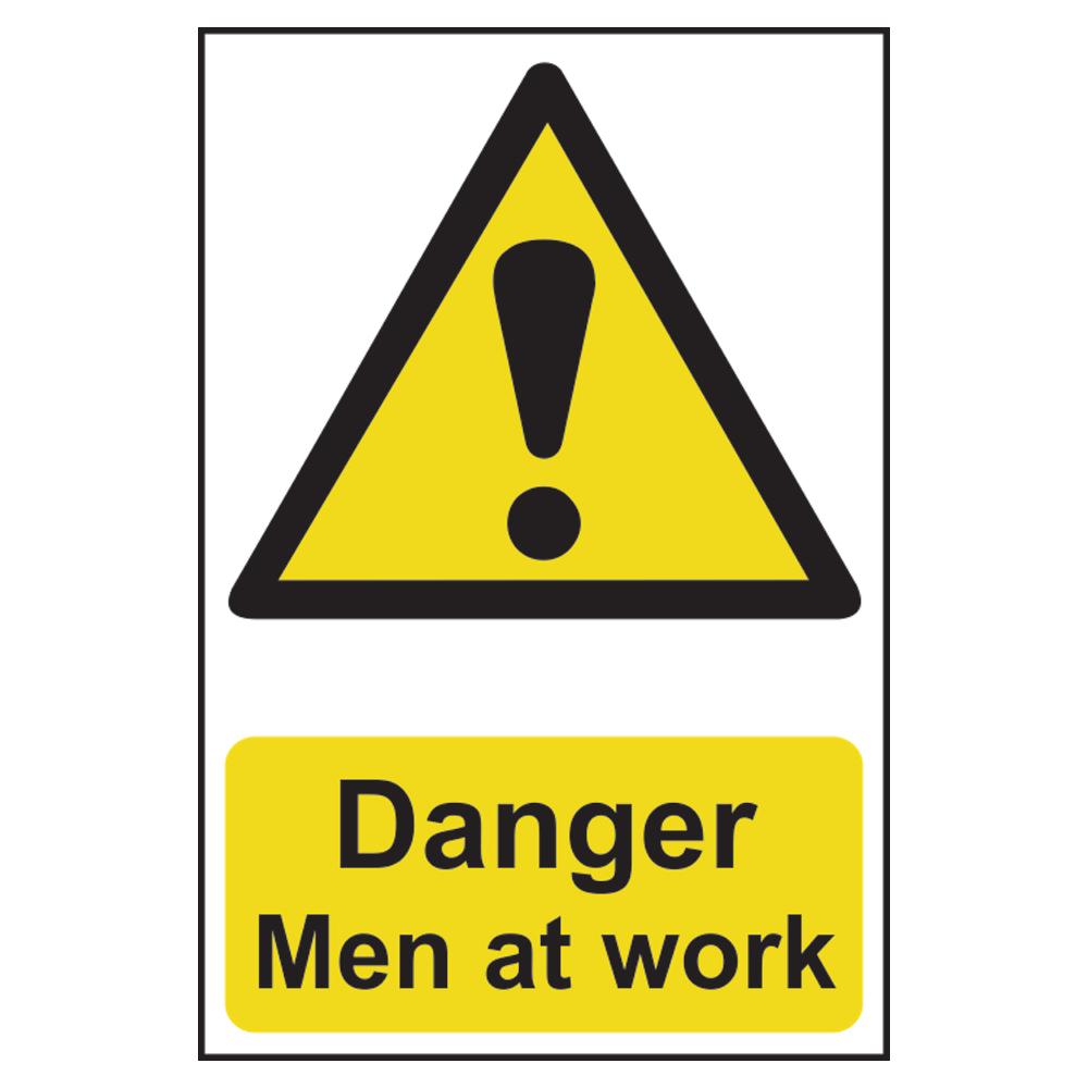 ASEC `Danger: Men at Work` Sign 200mm x 300mm 1 Locksmith in Stirling