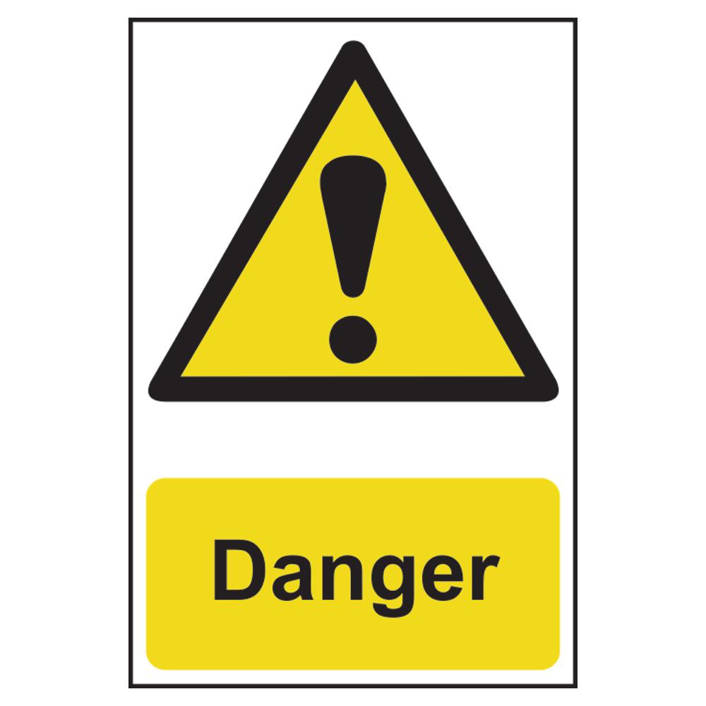 ASEC Danger Warning Sign PVC 200mm x 300mm 1 Locksmith in Stirling