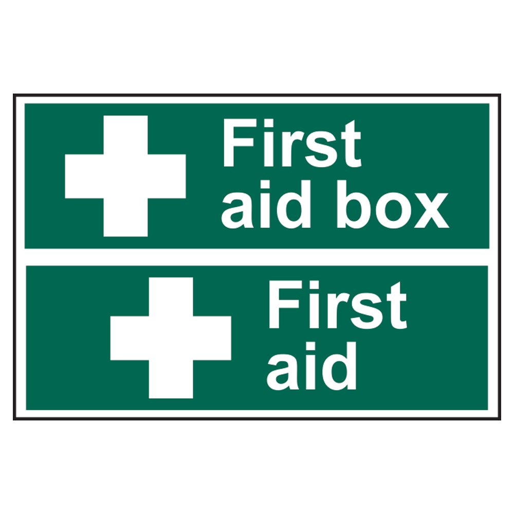 ASEC First Aid Box Sign 300mm x 200mm 1 Locksmith in Stirling