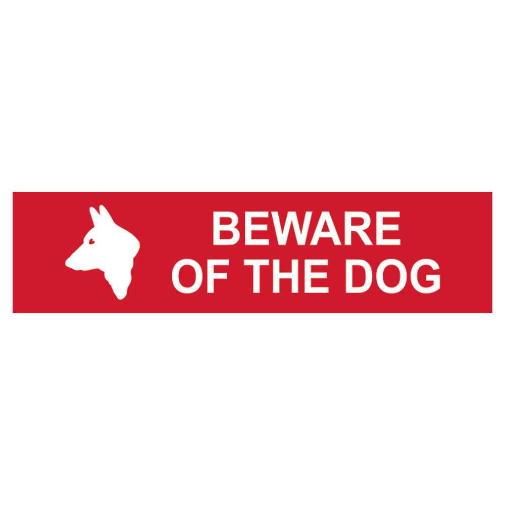 ASEC `Beware of The Dog` Sign 200mm x 50mm 1 Locksmith in Stirling