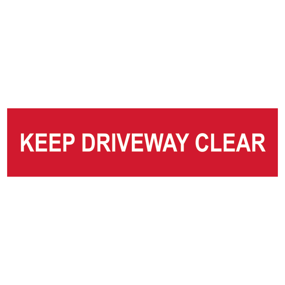 ASEC `Keep Driveway Clear` Sign 200mm x 50mm 1 Locksmith in Stirling