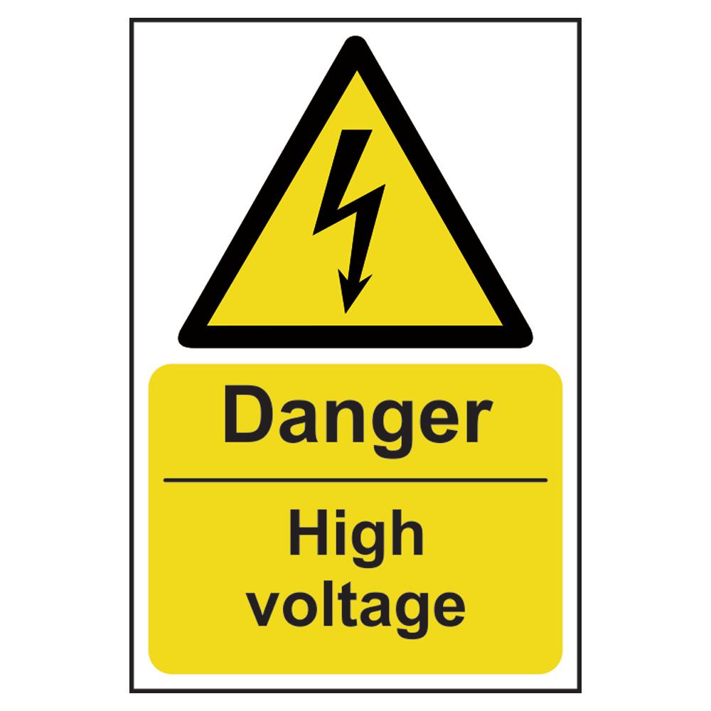 ASEC `Danger: High Voltage` Sign 200mm x 300mm 1 Locksmith in Stirling
