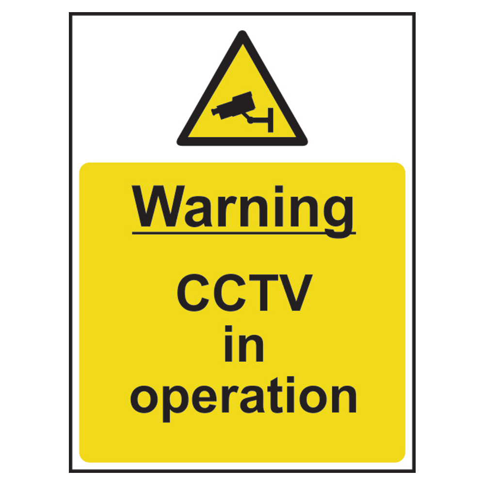 ASEC `Warning: CCTV In Operation` Sign 300mm x 400mm 1 Locksmith in Stirling