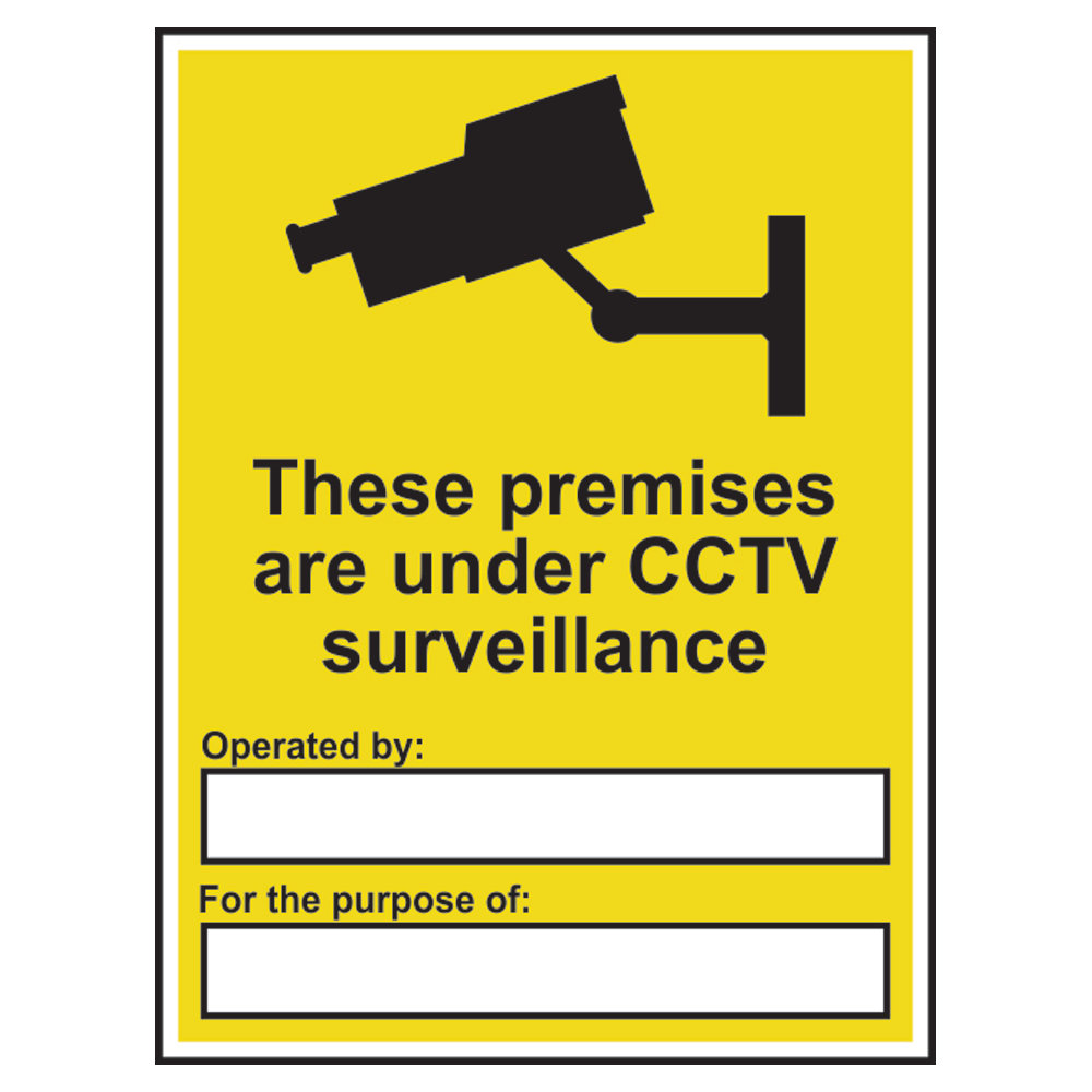 ASEC `Premises Under CCTV Surveillance` Sign 300mm x 400mm 1 Locksmith in Stirling