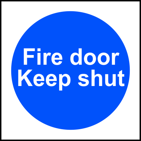 ASEC `Fire door Keep shut` Sign 100mm x 100mm 1 Locksmith in Stirling