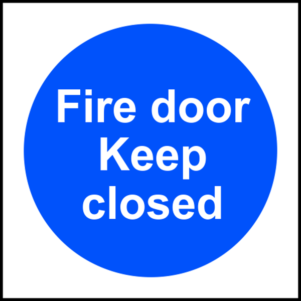 ASEC `Fire door Keep closed` Sign 100mm x 100mm 1 Locksmith in Stirling