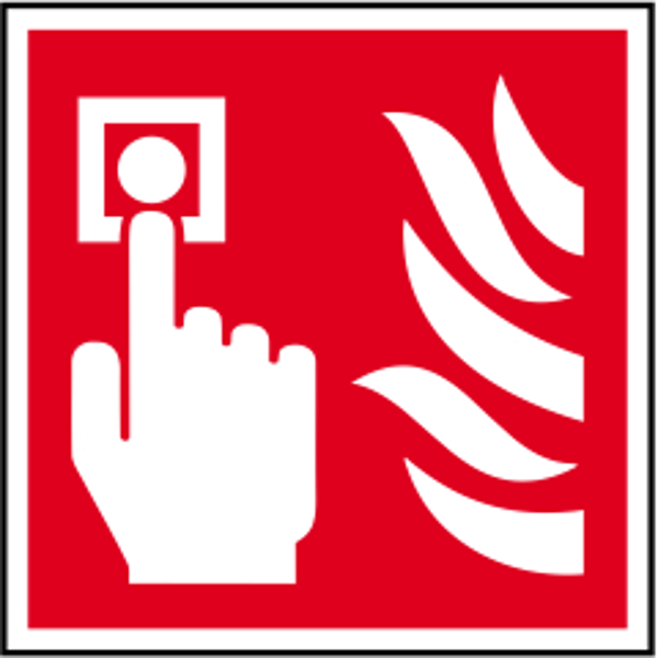 ASEC Fire Alarm Call Point Sign 100mm x 100mm 1 Locksmith in Stirling