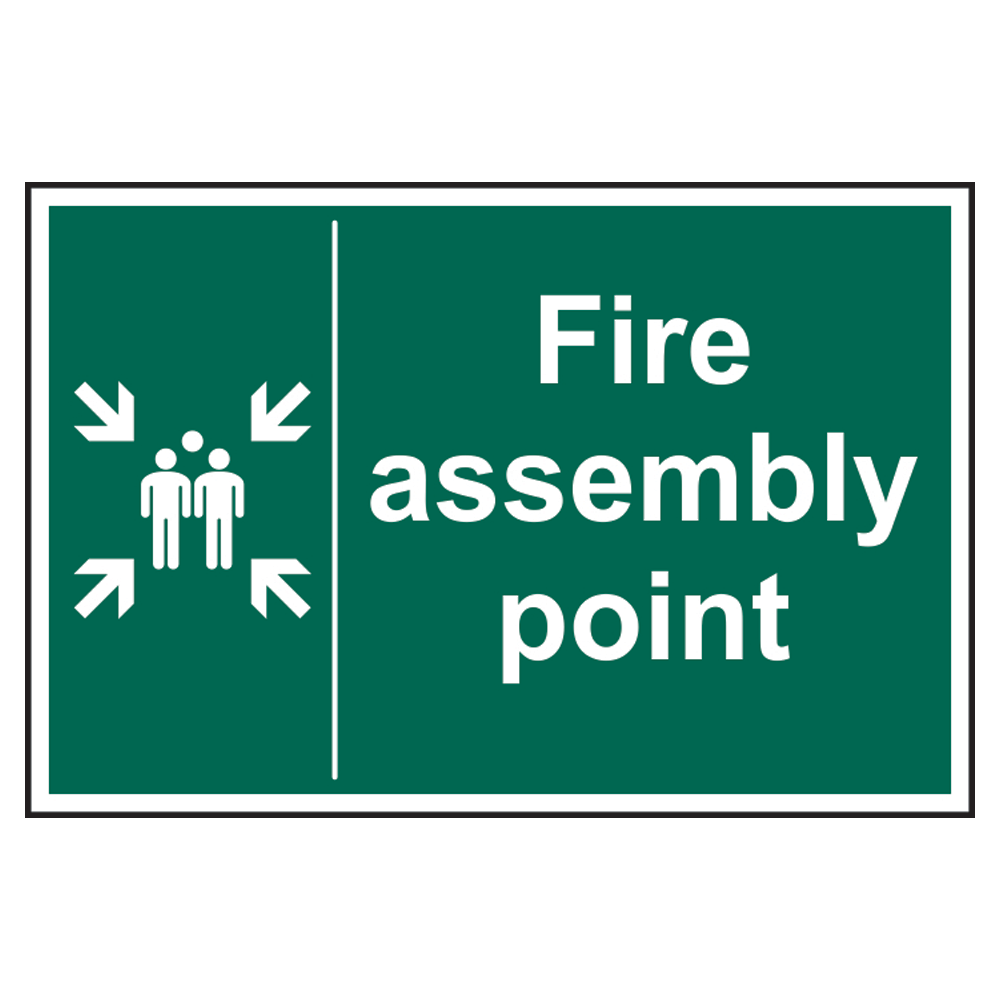 ASEC Fire Assembly Point Sign 400mm x 600mm 1 Locksmith in Stirling